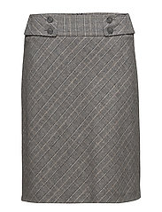 SKIRT SHORT WOVEN FABRIC - GREY CHECK