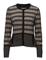 BLAZER LONG-SLEEVE - BLACK SAND FIGURED