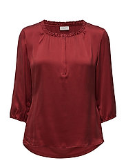 BLOUSE 3/4-SLEEVE - CURRANT