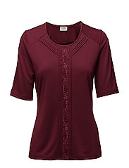 T-SHIRT SHORT-SLEEVE - WINE