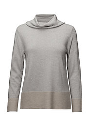 PULLOVER LONG-SLEEVE - SILVER/ SAND