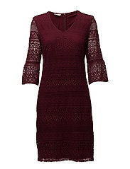 DRESS WOVEN FABRIC - WINE