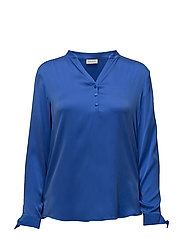 BLOUSE LONG-SLEEVE - ELECTRIC BLUE