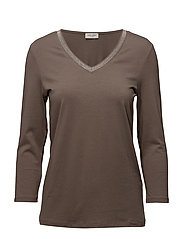 T-SHIRT 3/4-SLEEVE R - TAUPE