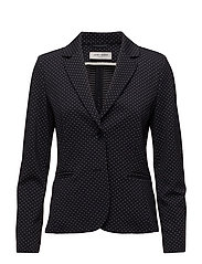 BLAZER LONG-SLEEVE - BLUE/ECRU/WHITE FIGURED