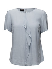 BLOUSE SHORT-SLEEVE - BLEU