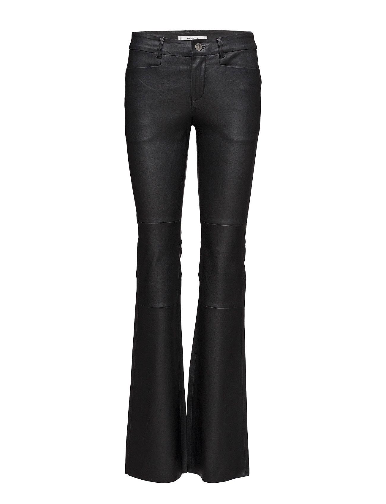 Desmond Pants Gestuz Læder leggins & bukser til Kvinder i Sort