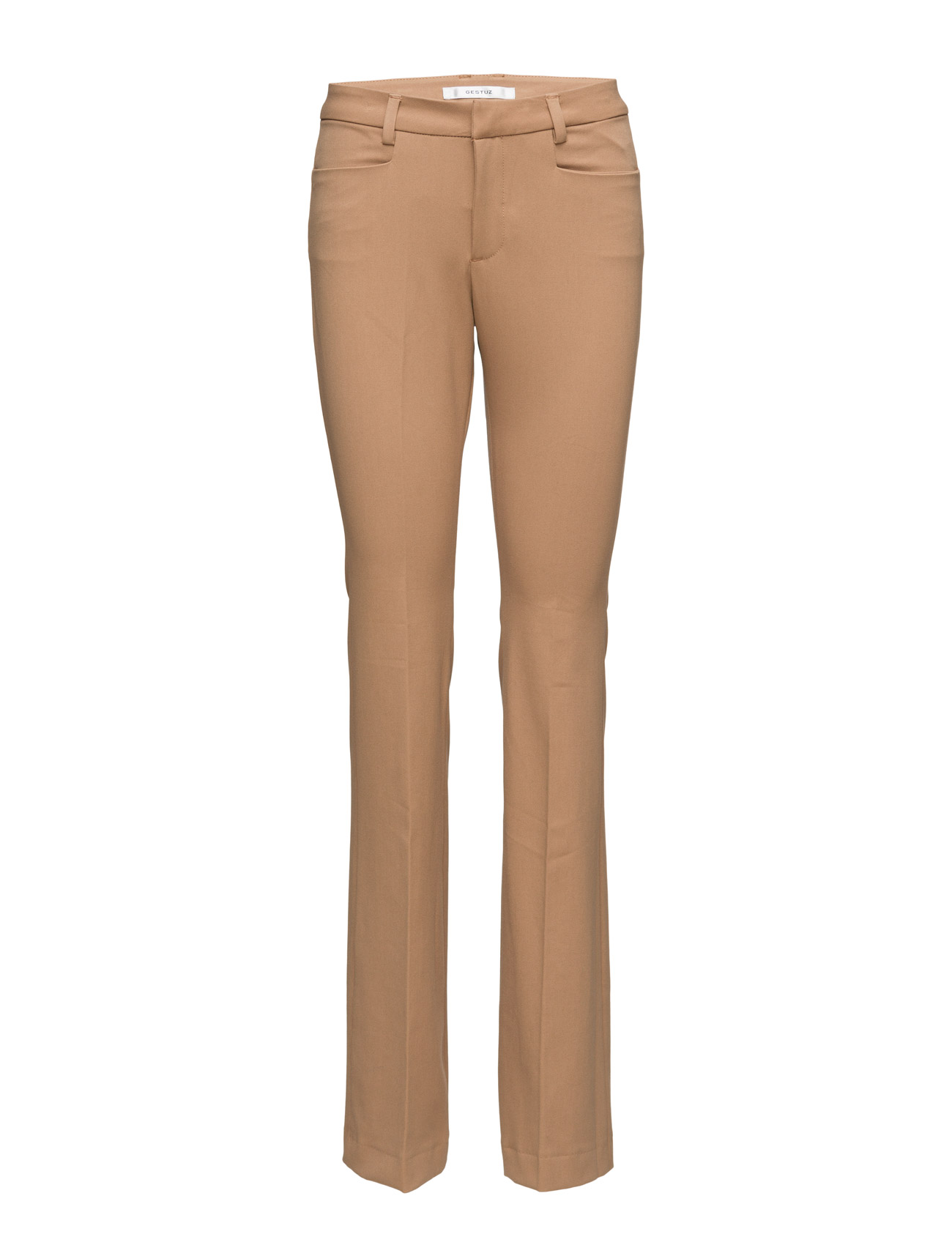 Caya Pants Ms16 Gestuz Bukser til Kvinder i Tobacco Brown