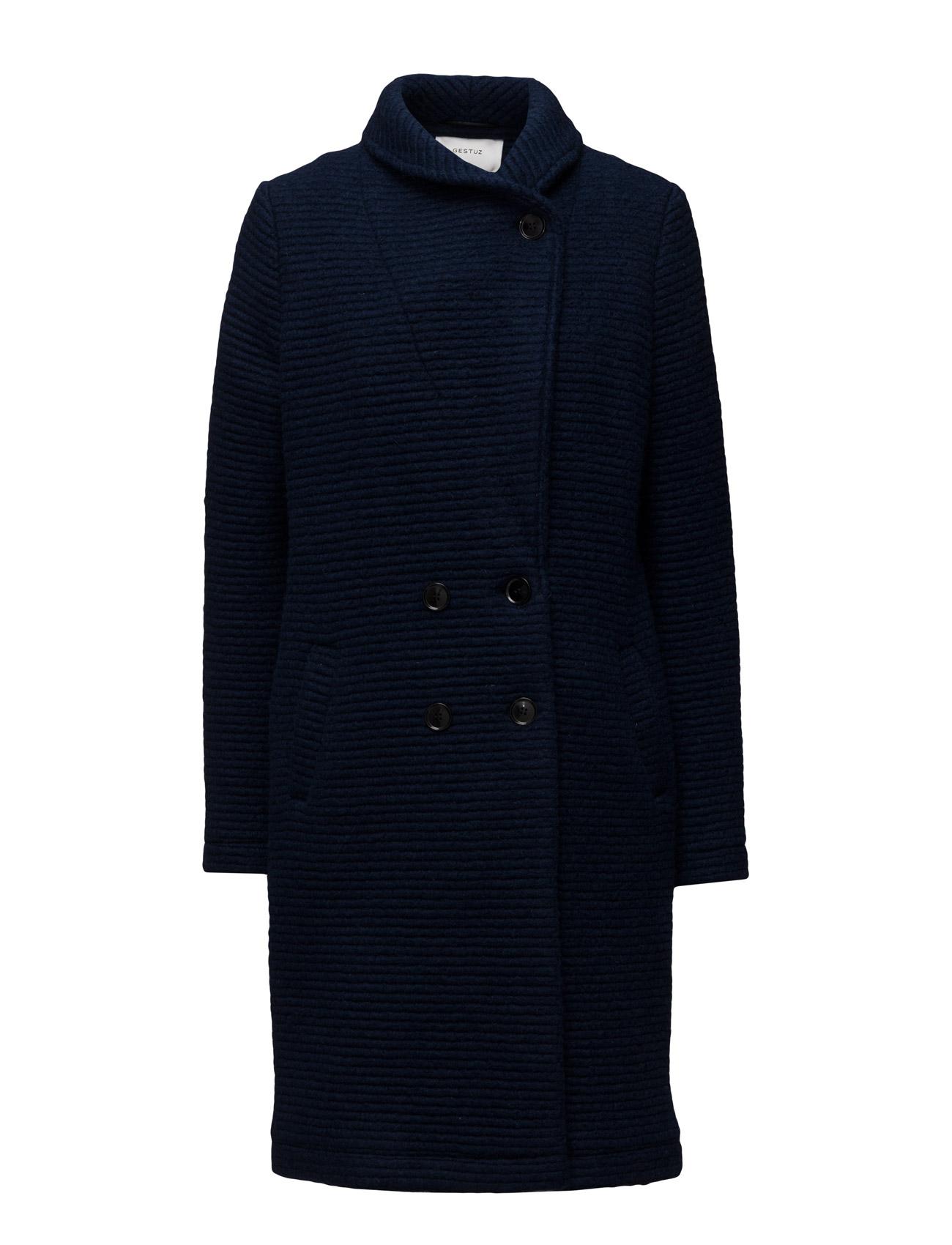 Perrie Coat Ao16 Gestuz Frakker til Kvinder i Navy Blazer