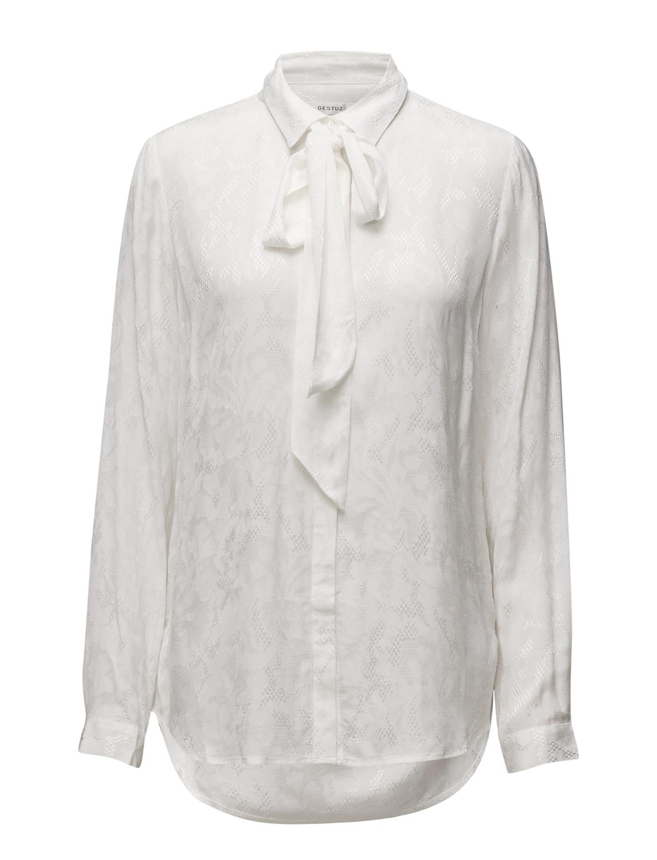 Jade Shirt Ma16 Gestuz Langærmede til Damer i White Swan