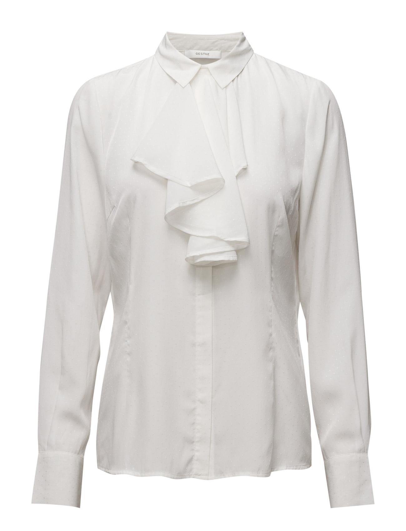 Lizzy Shirt Ye16 Gestuz Langærmede til Kvinder i Cherry mahogni Print