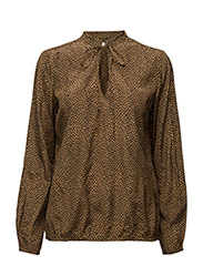 Tacel shirt AO16 - TAPENADE/BLACK PRINT