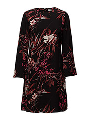 Demi dress MA16 - BLACK/PINK FLOWER PRINT