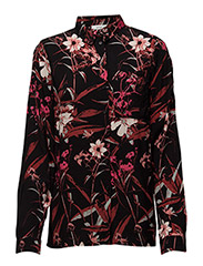 Demi shirt MA16 - BLACK/PINK FLOWER PRINT