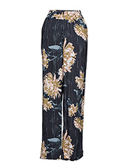 Via pants SO17 - DEEP WELL FLOWER PRINT