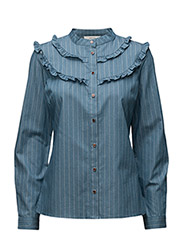 Braxton shirt MS17 - DENIM PIN STRIPE