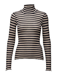 Tini rollneck MS17 - NUDE W BLUE STRIPES