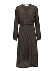 Nete dress MS17 - BROWN OLIVE