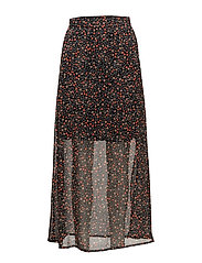 Mally long skirt AO17 - SMALL DOT PRINT