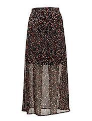 Mally long skirt AO17 - SMALL DOT PRINT