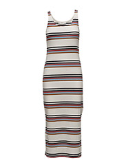 Ea dress AO17 - WHITE/MULTI COLOR STRIPES