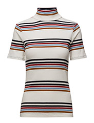 Ea ss rollneck AO17 - WHITE/MULTI COLOR STRIPES