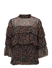 Mally blouse AO17 - SMALL DOT PRINT