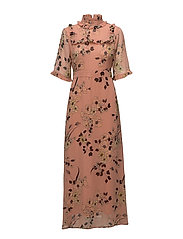 Pama maxi dress AO17 - LIGHT PINK PRINT
