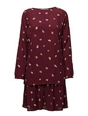 Amberly dress AO17 - ZINFANDEL FLOWER PRINT