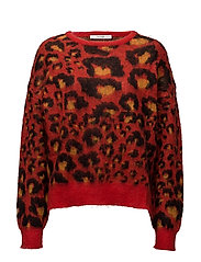 Garcia pullover MA17 - RED LEOPARD
