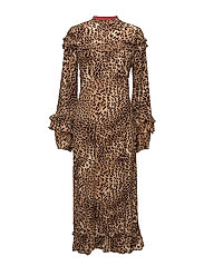 Christine long dress MA17 - LEOPARD