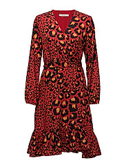 Gabriella dress MA17 - RED LEOPARD