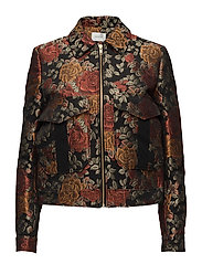 Edie jacket MA17 - RED ROSE JACQUARD