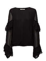 Pears solid blouse MA17 - BLACK