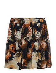 Fergie skirt MA17 - MULTI BLACK FLOWER