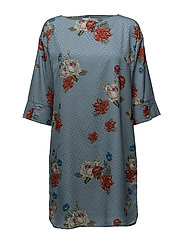 Natacha dress SO18 - LIGHT BLUE FLOWER