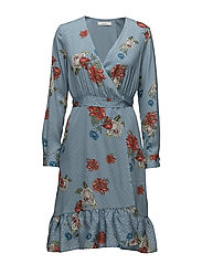 Natacha wrap dress SO18 - LIGHT BLUE FLOWER