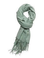 Cross emb scarf SO18 - SILT GREEN