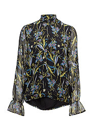 Ebony blouse ZE2 17 - BLACK FLOWER