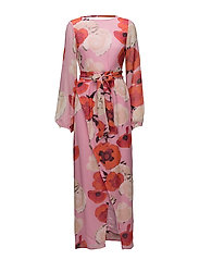 Violetta long dress MS18 - PINK FLOWER