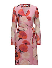 Violetta wrap dress MS18 - PINK FLOWER
