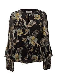 Maui blouse MS18 - BLACK PALM