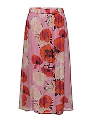 Violetta long skirt MS18 - PINK FLOWER
