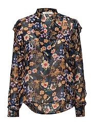 Fally blouse ZE3 17 - MULTI BLACK FLOWER