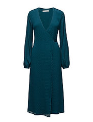 Nete wrap dress ZE3 17 - DEEP LAGOON