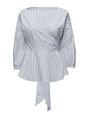 Wray blouse ZE3 17 - LIGHT BLUE/WHITE STRIPE