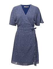 Clover wrap dress HS18 - CLEMATIS BLUE