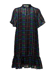 Tilde dress AO18 - CHECK PRINT