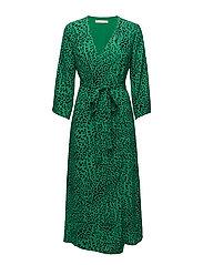 Loui dress AO18 - GREEN LEOPARD