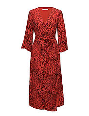 Loui dress AO18 - RED LEOPARD